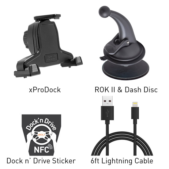 xProDock Music and Charge Kit Components